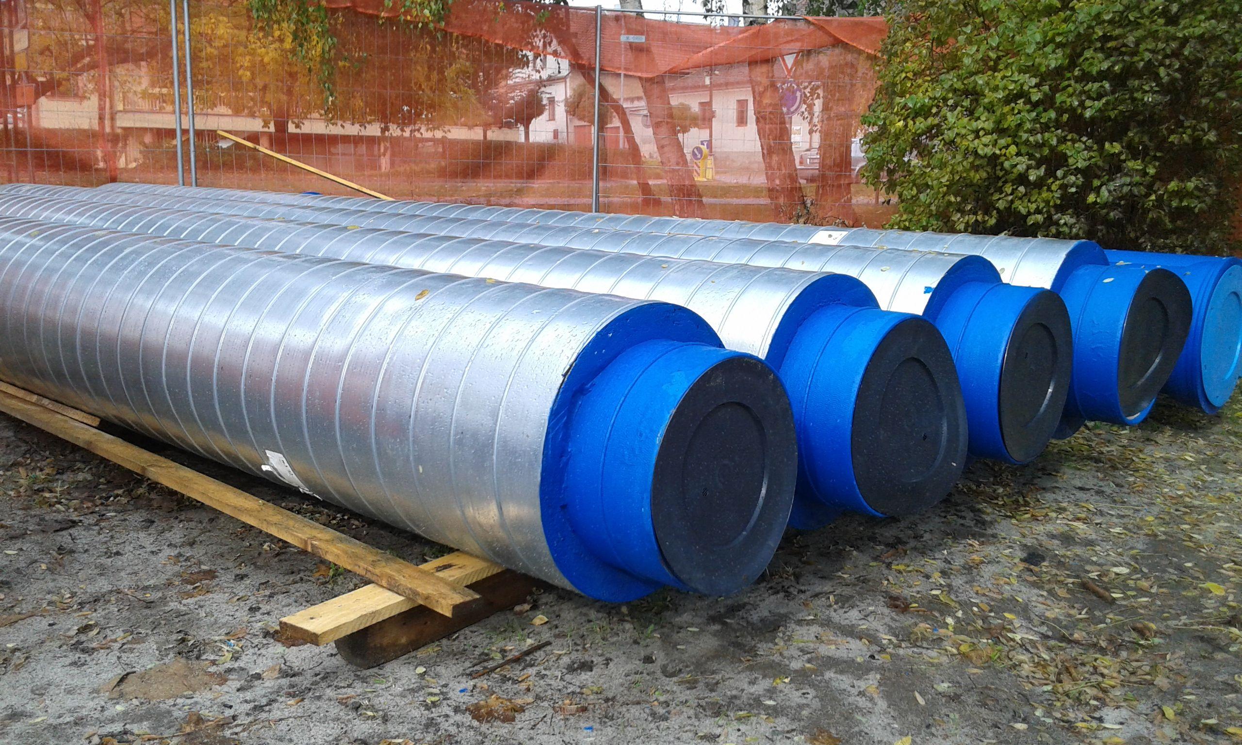 Potrubí s tepelnou izolací pro nadzemní instalace