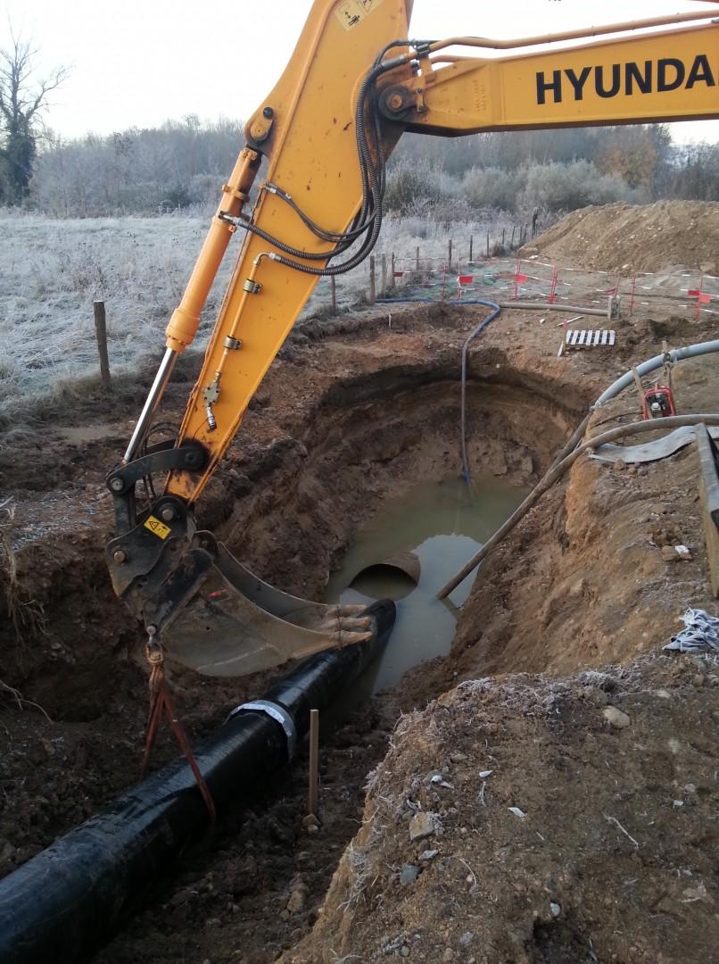 Saint-Gobain PAM mikrotunelování - bezvýkopová pokládka potrubí