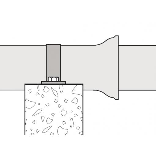 Podpěra trubky - pokládka nad zemí