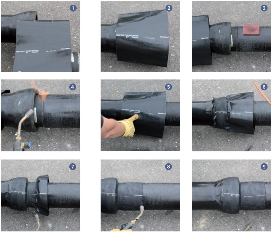 Postup pro instalaci termosmrštitelné manžety STANDARD TT