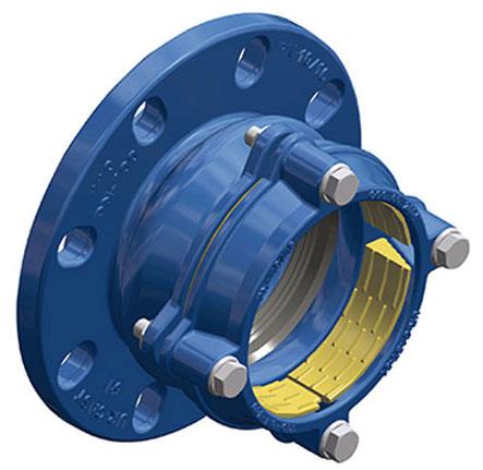 Přírubov adaptér QUICK PE jištěný pro potrubí z PE