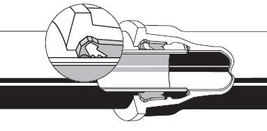Automatický násuvný zámkový spoj STANDARD Vi -jištěný spoj potrubí z tvárné litiny