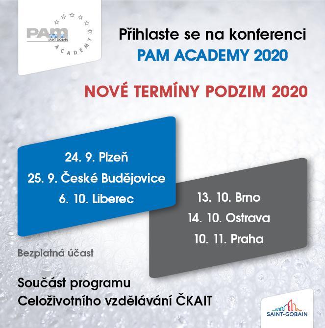 PAM ACADEMY 2020 - nové termíny podzim 2020