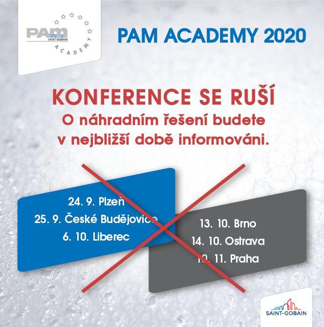 PAM ACADEMY 2020 - zrušení