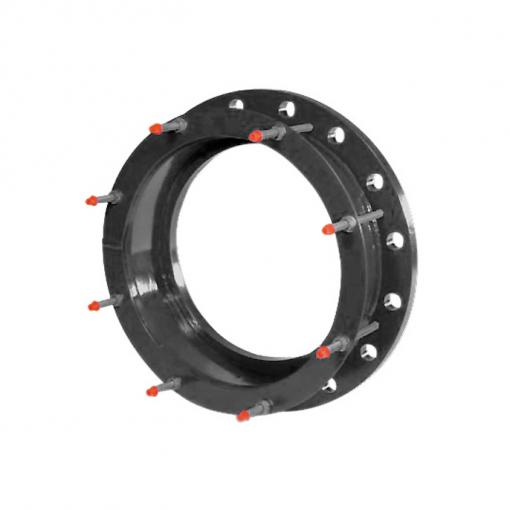 Quick GS flange adaptor for large diameter ductile iron pipes