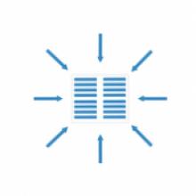 logo mříže a vtoky