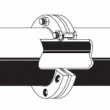 Přírubový spoj- potrubí z tvárné litiny  PAM