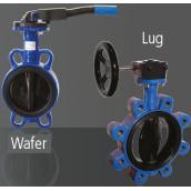 Mezipřírubové klapky WAFER / LUG